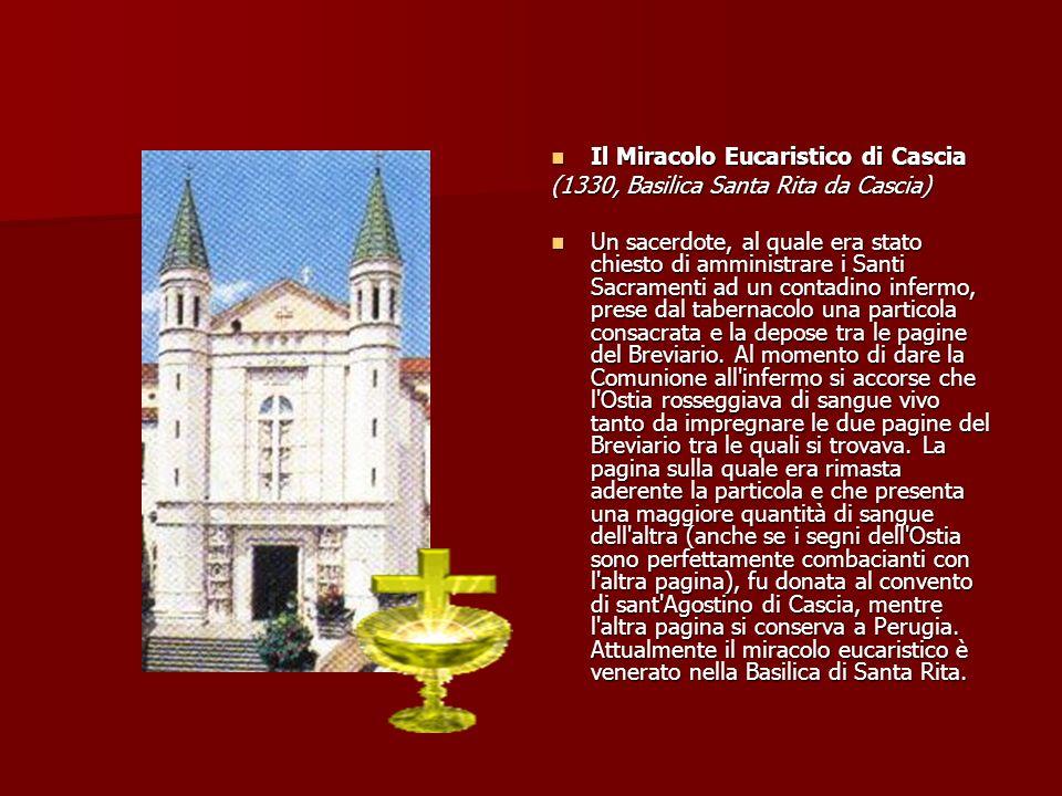 Il Miracolo Eucaristico di Cascia