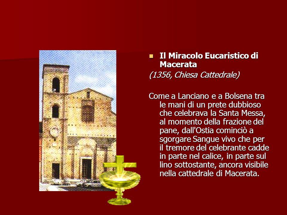 Il Miracolo Eucaristico di Macerata