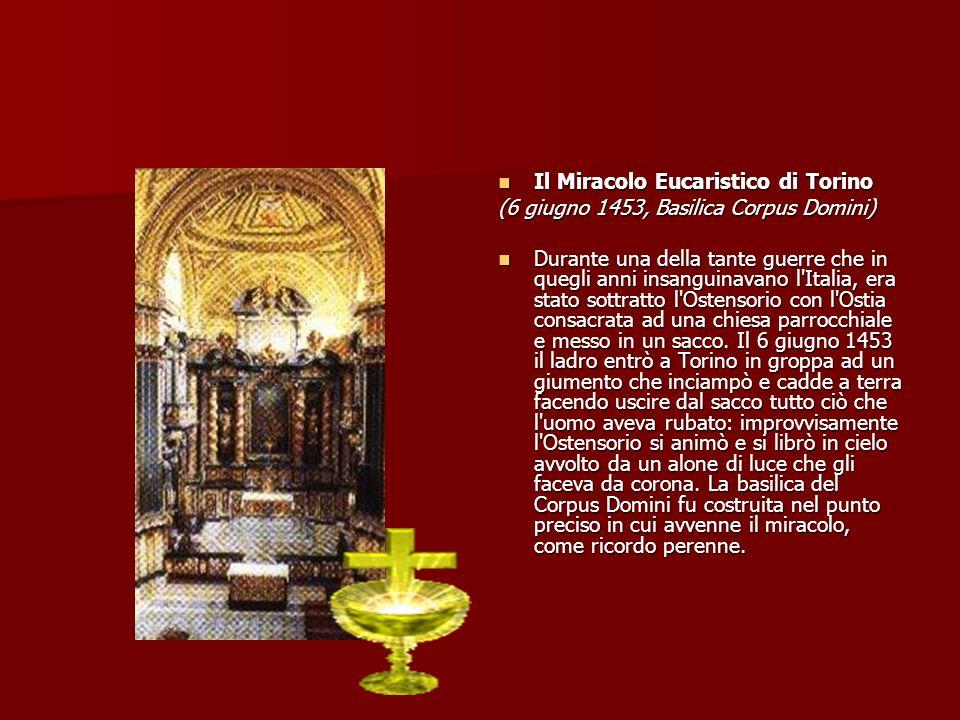 Il Miracolo Eucaristico di Torino