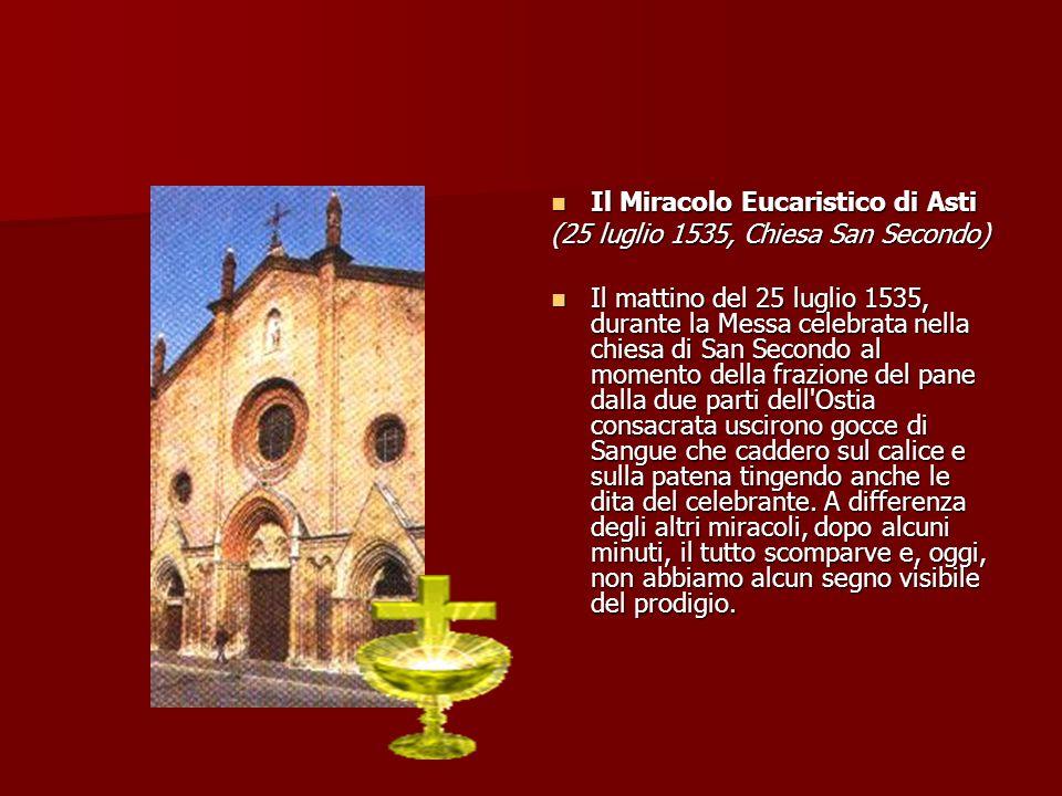 Il Miracolo Eucaristico di Asti