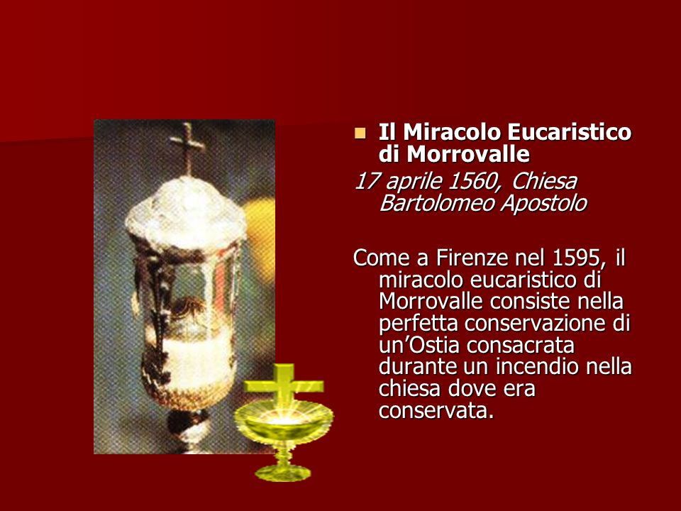 Il Miracolo Eucaristico di Morrovalle