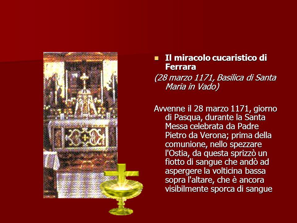 Il miracolo cucaristico di Ferrara