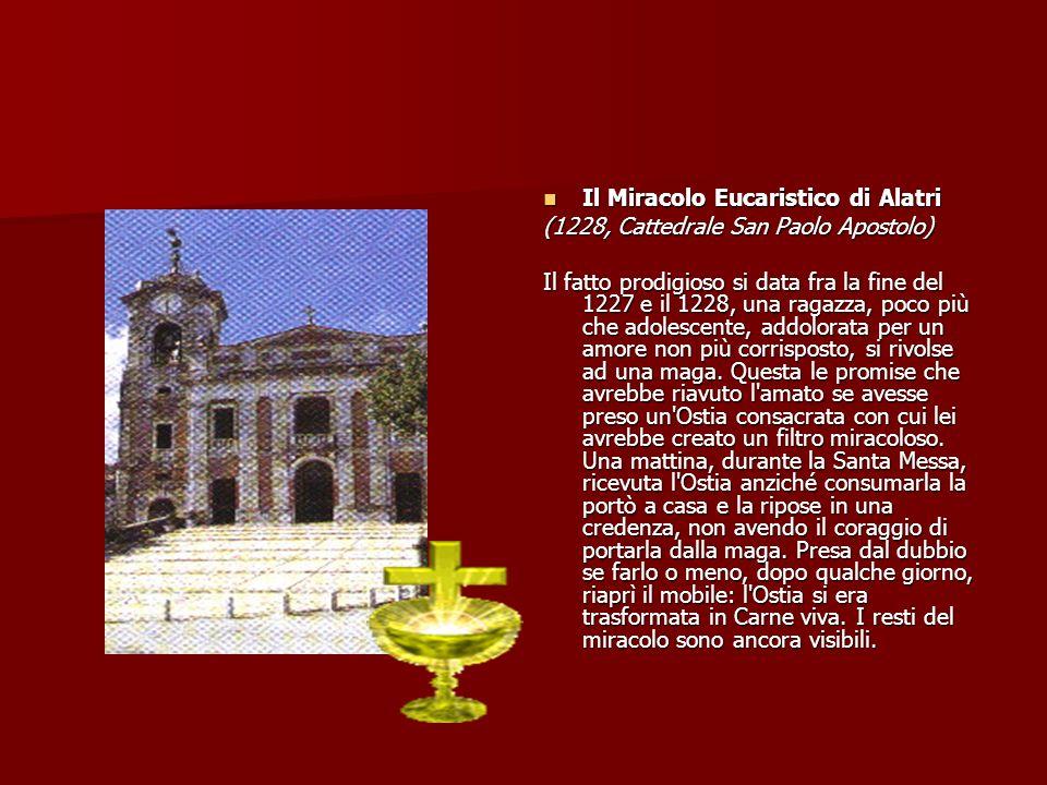 Il Miracolo Eucaristico di Alatri