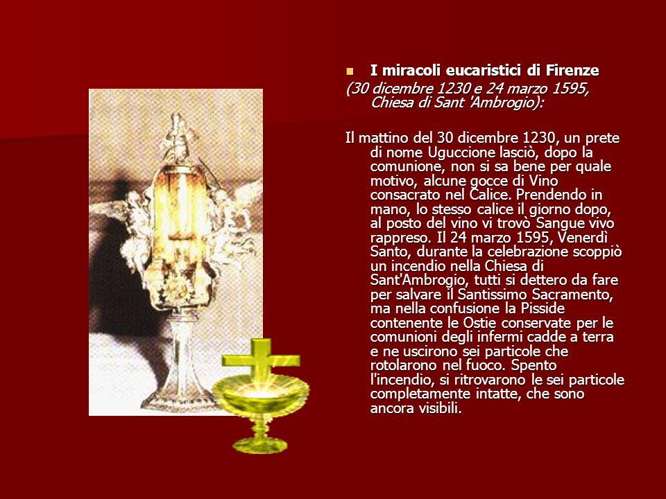 I miracoli eucaristici di Firenze