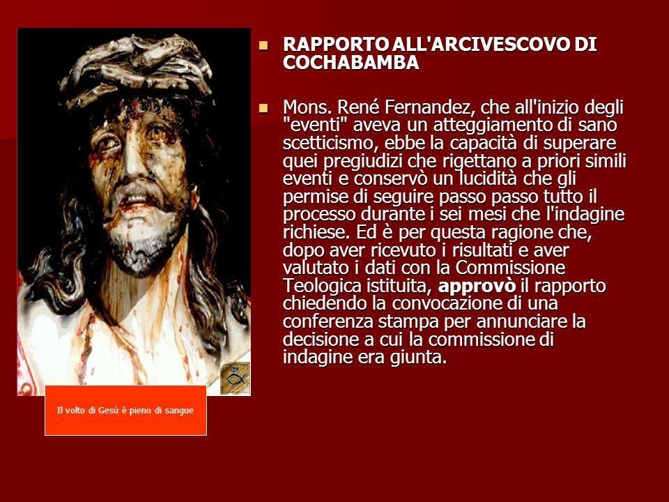 Il volto di Gesù è pieno di sangue