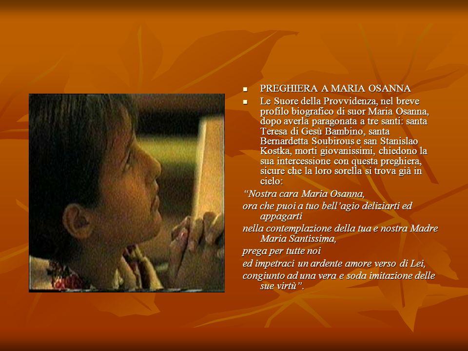 PREGHIERA A MARIA OSANNA