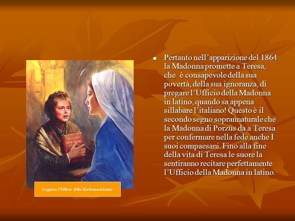 Leggerai l'Ufficio della Madonna in latino