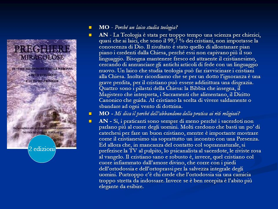 2 edizioni MO - Perché un laico studia teologia