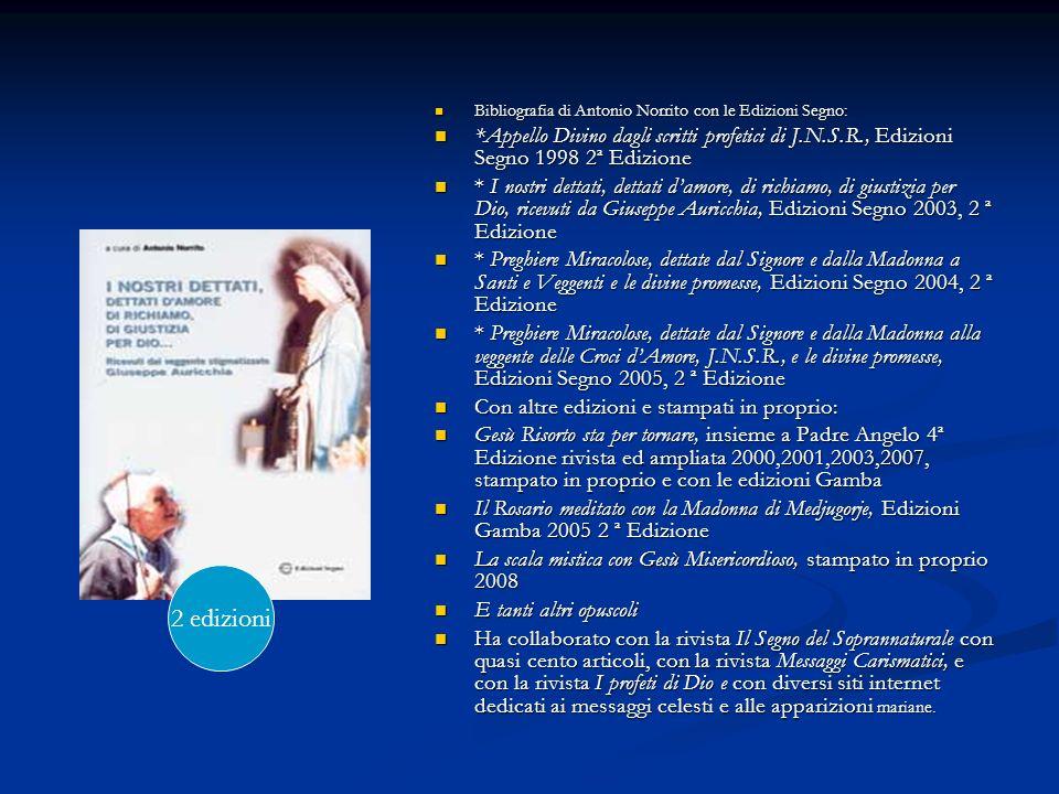 Bibliografia di Antonio Norrito con le Edizioni Segno:
