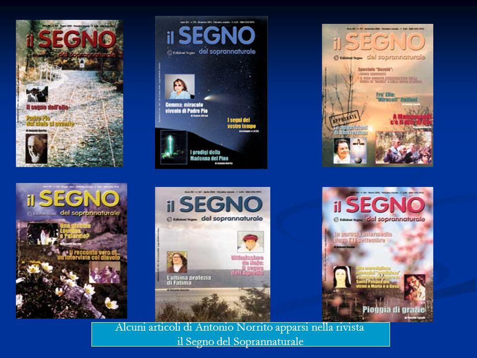 Alcuni articoli di Antonio Norrito apparsi nella rivista