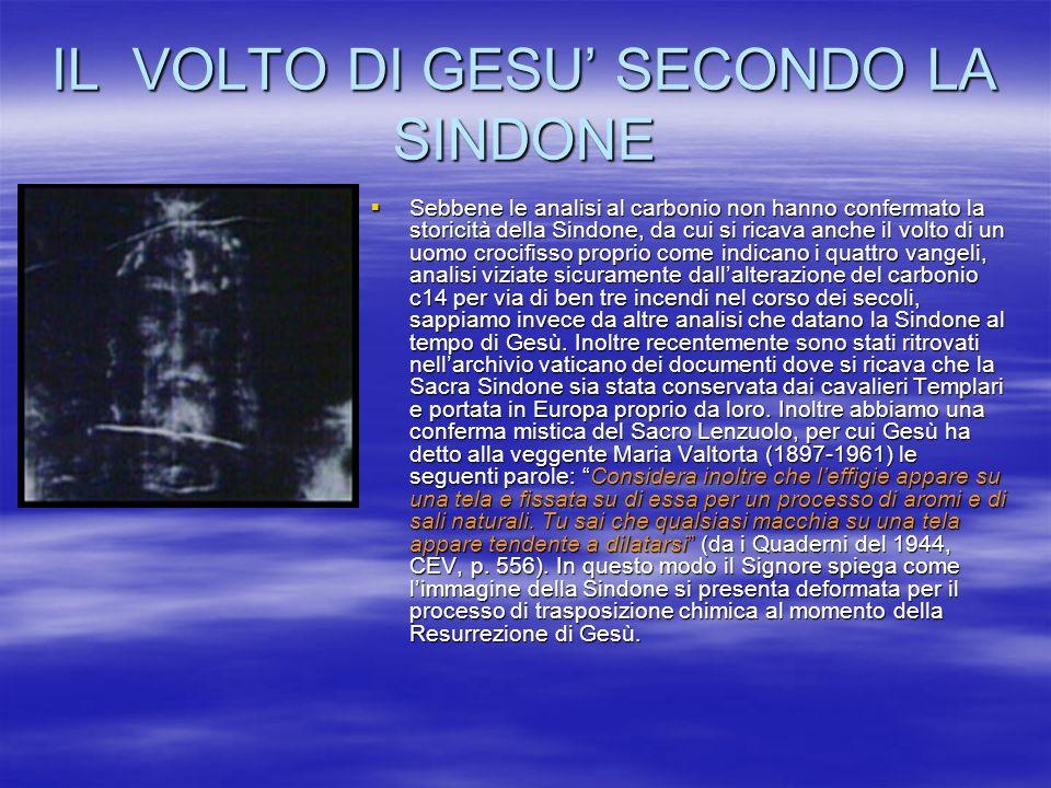 IL VOLTO DI GESU' SECONDO LA SINDONE