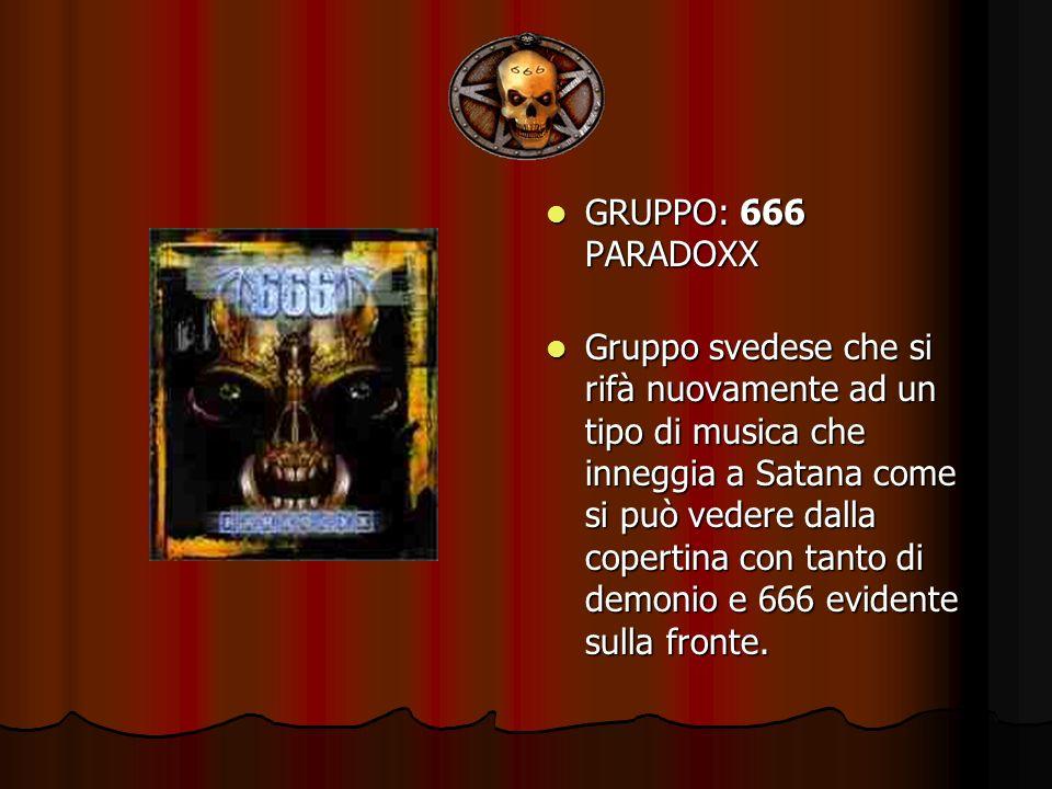 GRUPPO: 666 PARADOXX