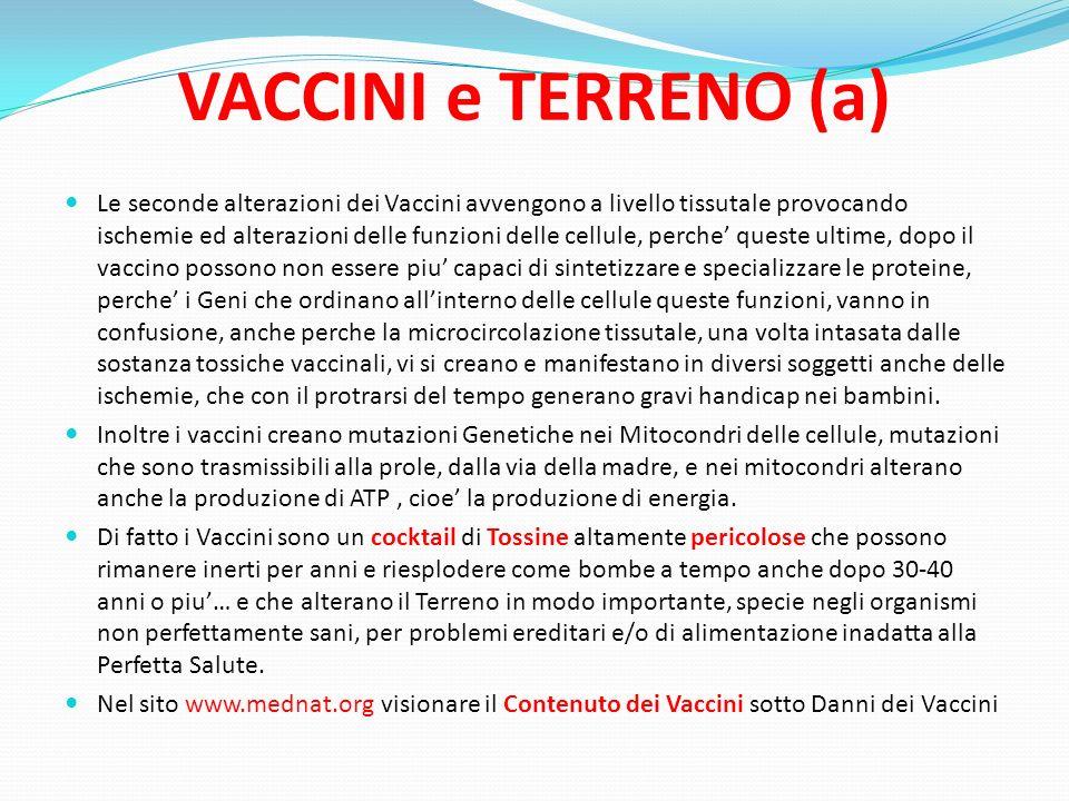 VACCINI e TERRENO (a)