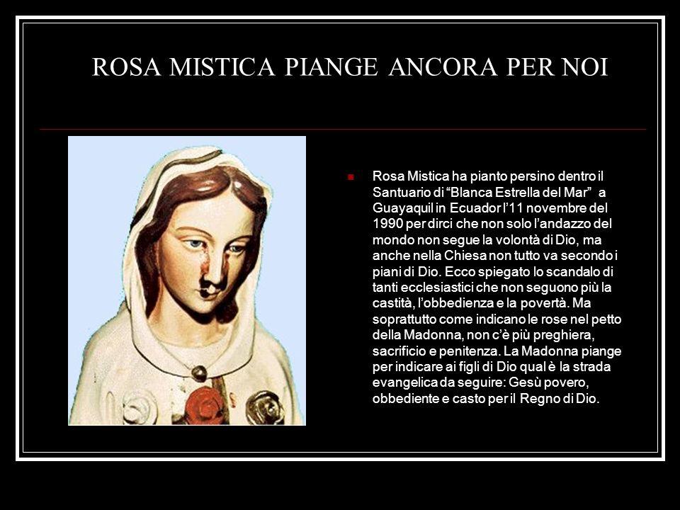 ROSA MISTICA PIANGE ANCORA PER NOI