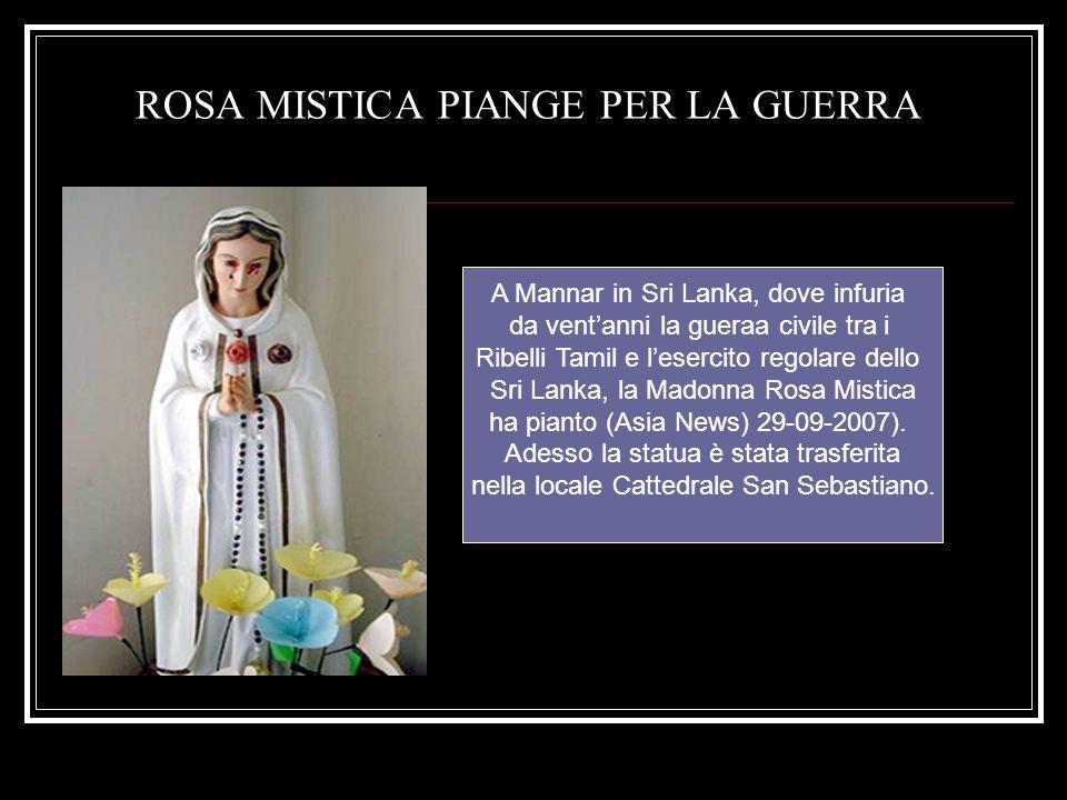 ROSA MISTICA PIANGE PER LA GUERRA