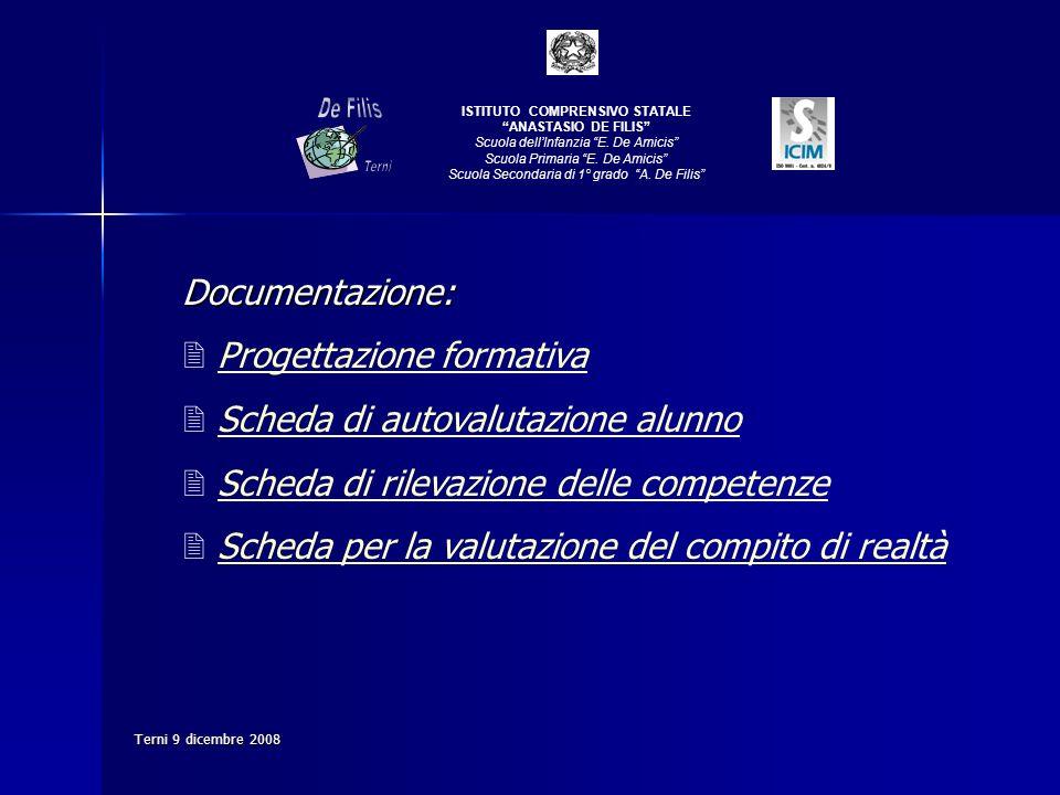 De Filis Documentazione: Progettazione formativa