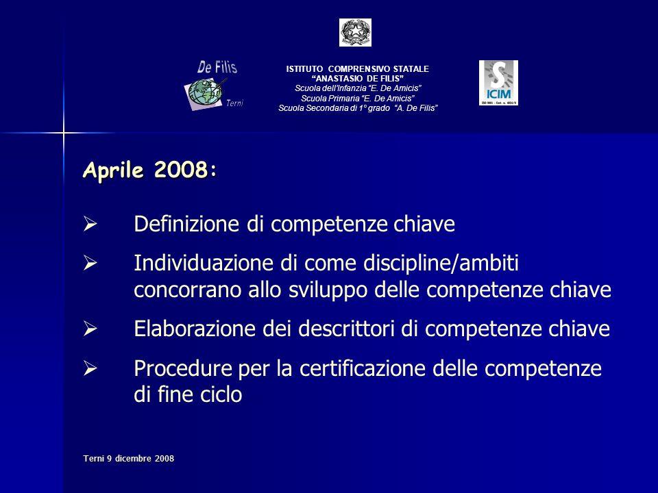 De Filis Aprile 2008: Definizione di competenze chiave