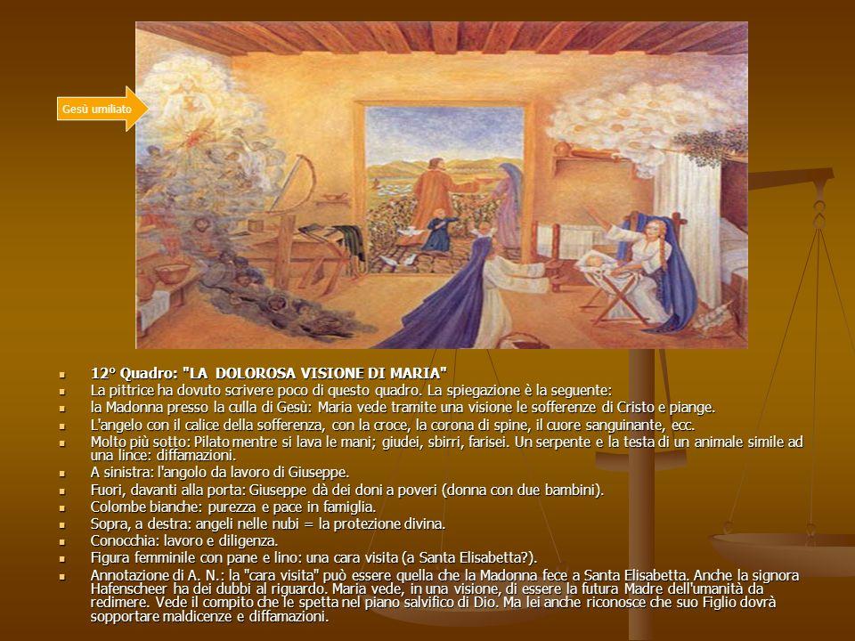 12° Quadro: LA DOLOROSA VISIONE DI MARIA