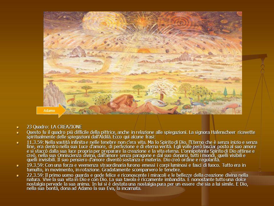 Adamo 23 Quadro: LA CREAZIONE.