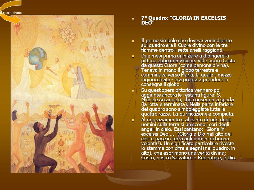 7° Quadro: GLORIA IN EXCELSIS DEO