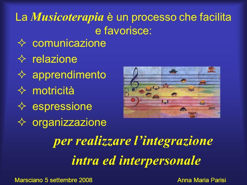 La Musicoterapia è un processo che facilita e favorisce:
