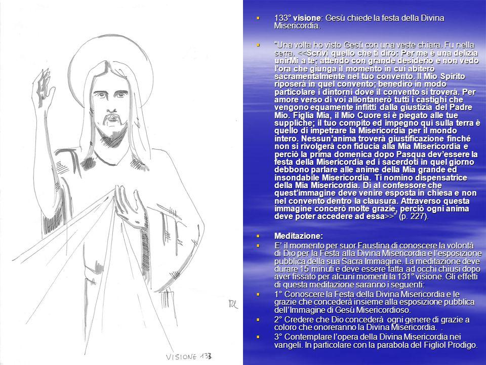 133° visione: Gesù chiede la festa della Divina Misericordia.