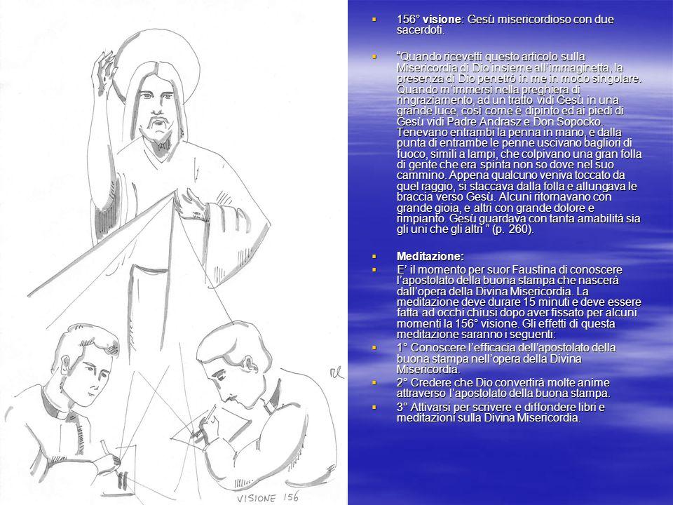 156° visione: Gesù misericordioso con due sacerdoti.
