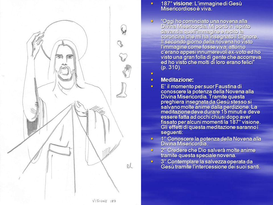 187° visione: L'immagine di Gesù Misericordioso è viva.