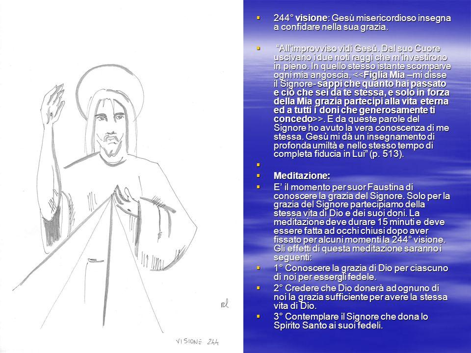 244° visione: Gesù misericordioso insegna a confidare nella sua grazia.