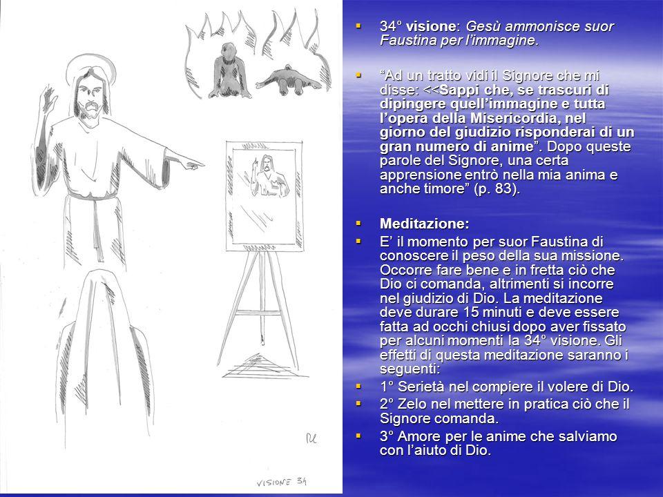 34° visione: Gesù ammonisce suor Faustina per l'immagine.