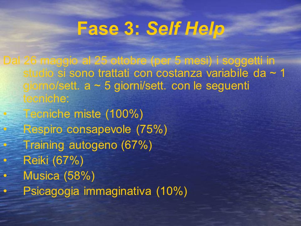Fase 3: Self Help