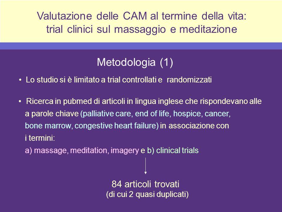 Valutazione delle CAM al termine della vita: