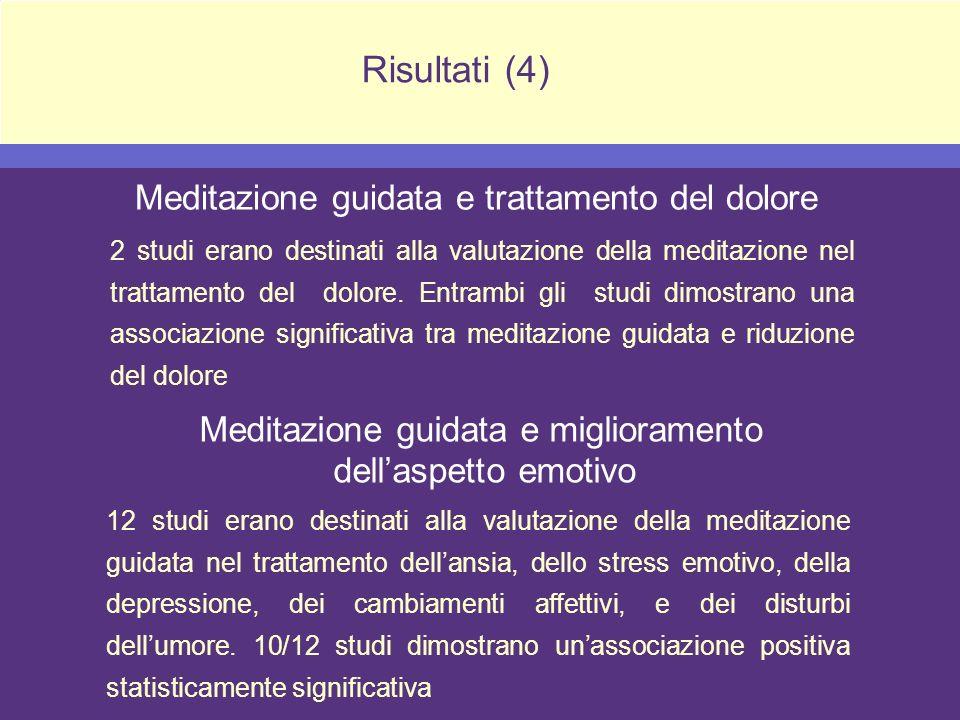 Meditazione guidata e miglioramento