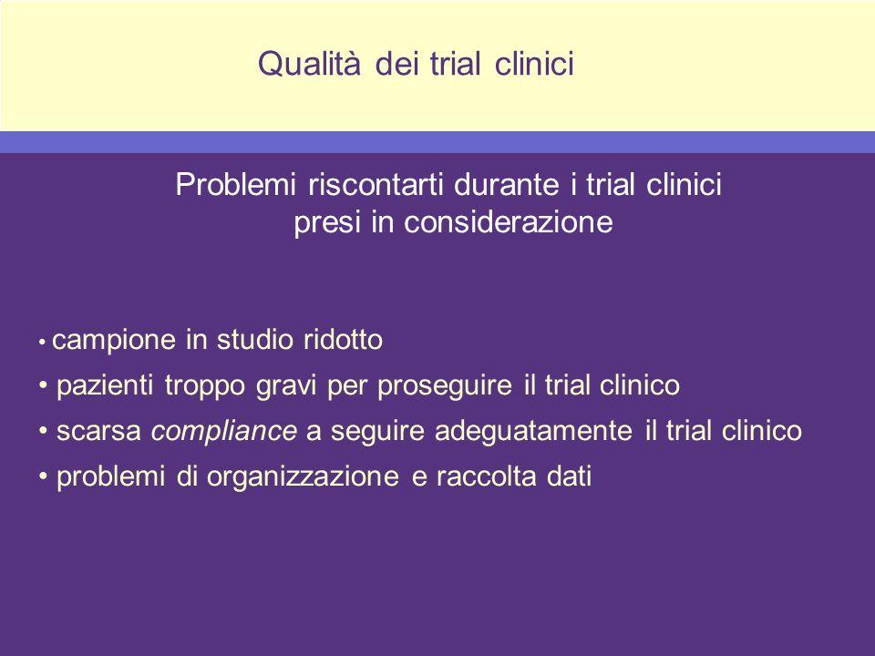 Qualità dei trial clinici
