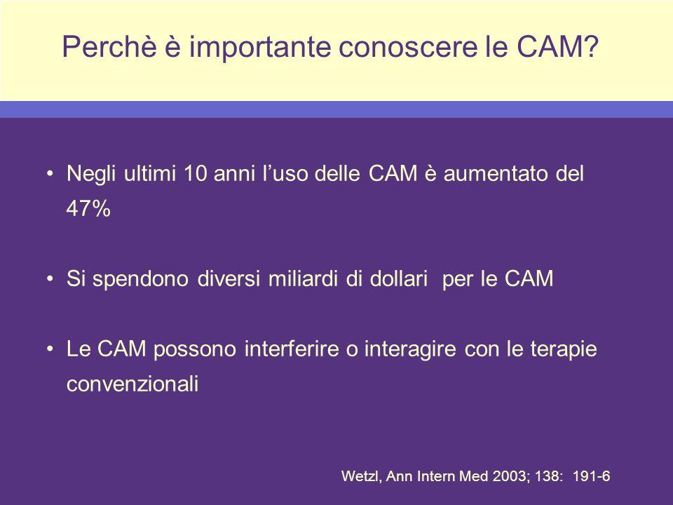 Perchè è importante conoscere le CAM