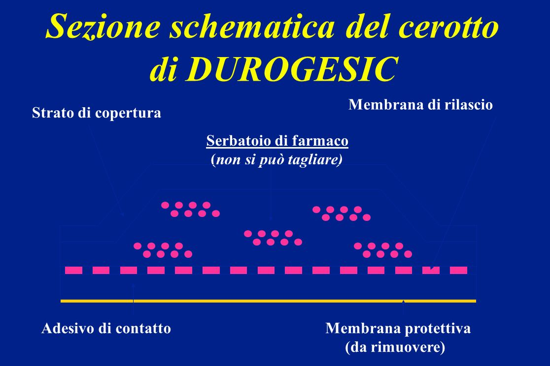 Sezione schematica del cerotto di DUROGESIC