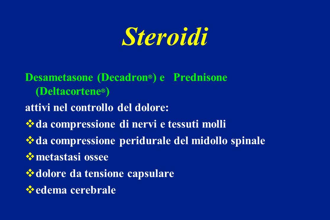 Steroidi Desametasone (Decadron) e Prednisone (Deltacortene)
