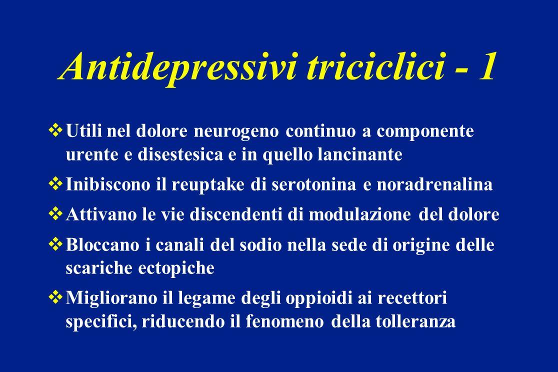 Antidepressivi triciclici - 1