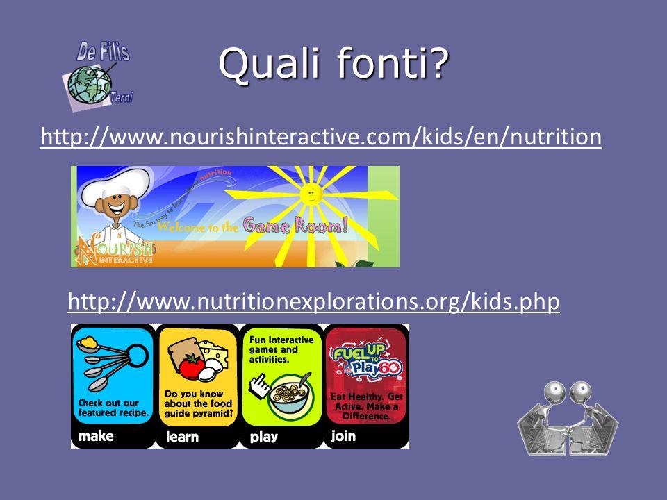 Quali fonti http://www.nourishinteractive.com/kids/en/nutrition