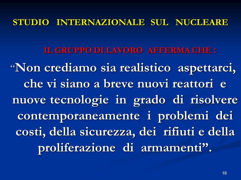 STUDIO INTERNAZIONALE SUL NUCLEARE