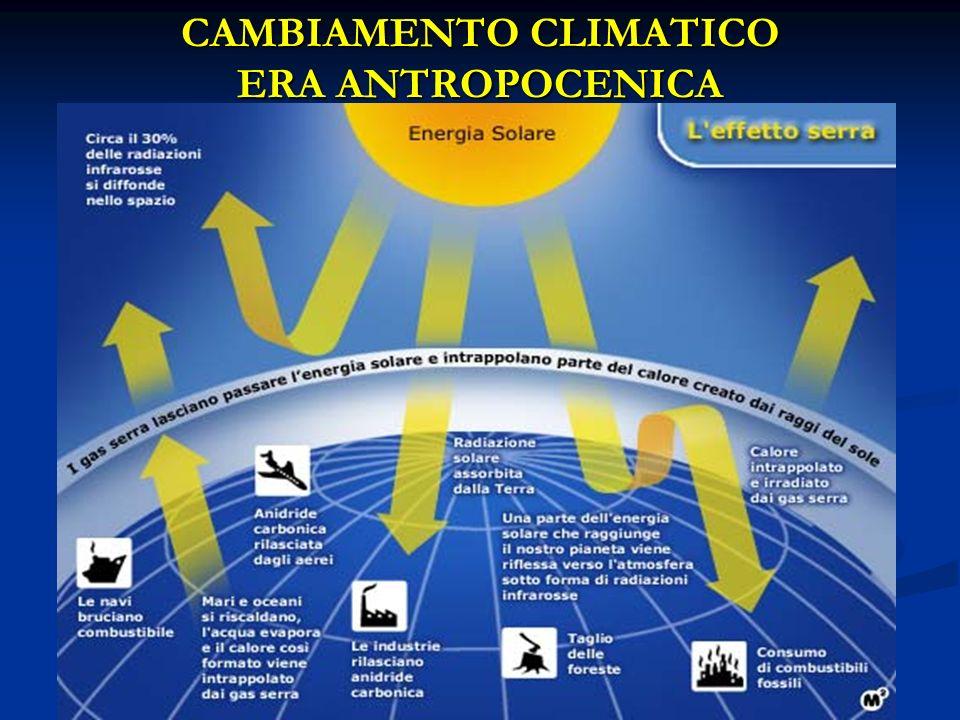 CAMBIAMENTO CLIMATICO ERA ANTROPOCENICA
