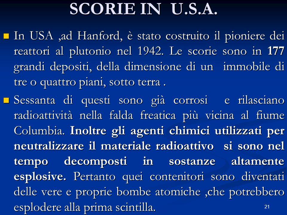 SCORIE IN U.S.A.