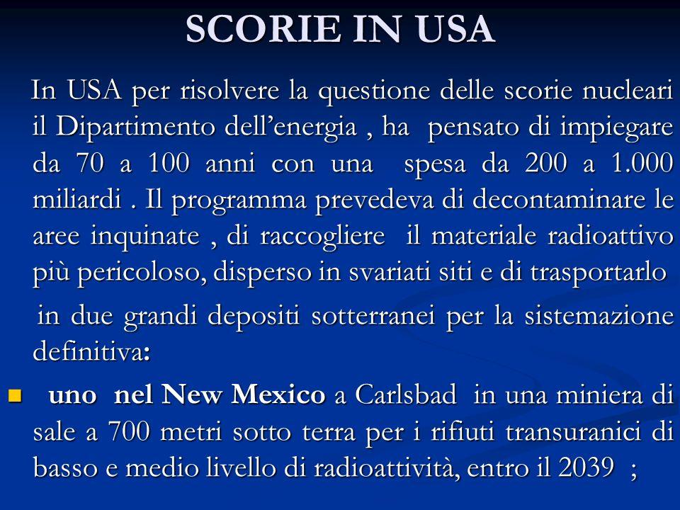 SCORIE IN USA