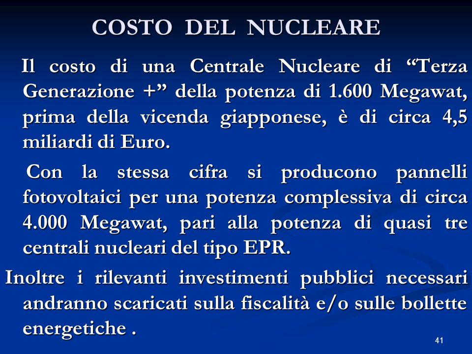 COSTO DEL NUCLEARE