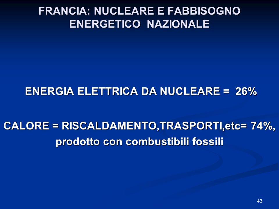 FRANCIA: NUCLEARE E FABBISOGNO ENERGETICO NAZIONALE