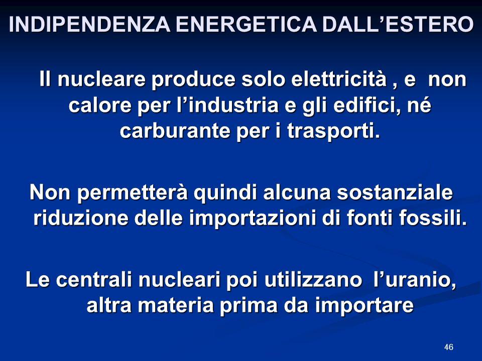 INDIPENDENZA ENERGETICA DALL'ESTERO