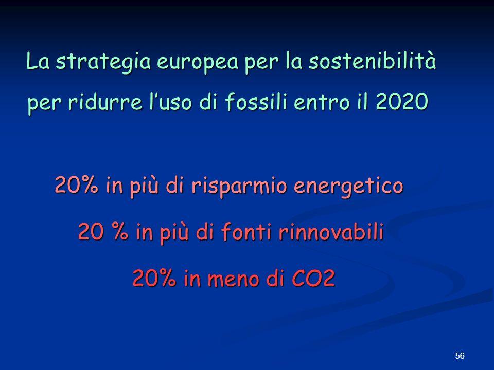 La strategia europea per la sostenibilità