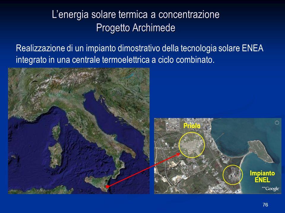 L'energia solare termica a concentrazione Progetto Archimede
