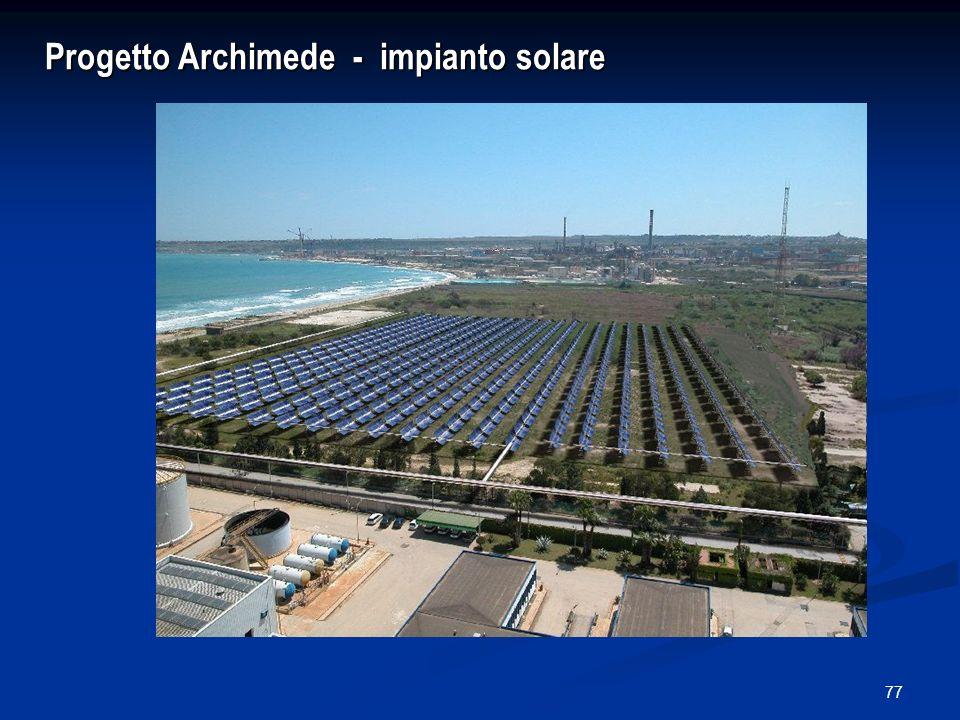 Progetto Archimede - impianto solare
