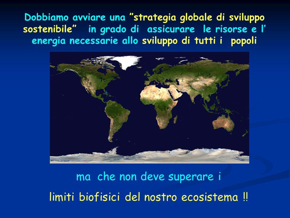 ma che non deve superare i limiti biofisici del nostro ecosistema !!